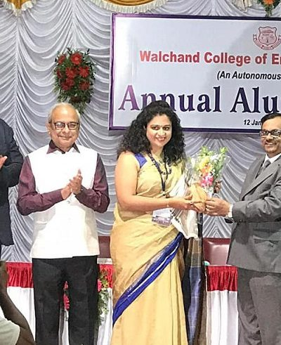 Felicitated at WCE