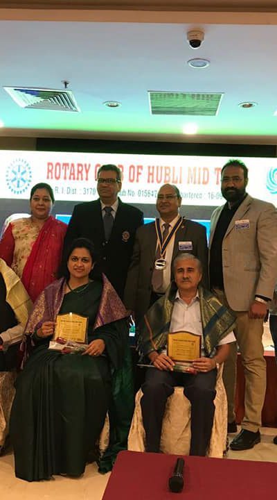 Felicitated by Rotary Club